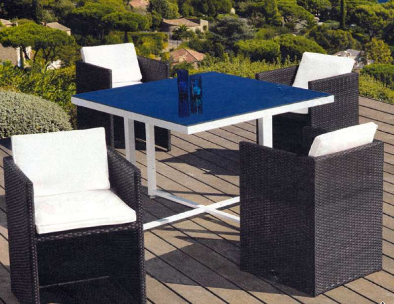 table de jardin verre leclerc. Black Bedroom Furniture Sets. Home Design Ideas